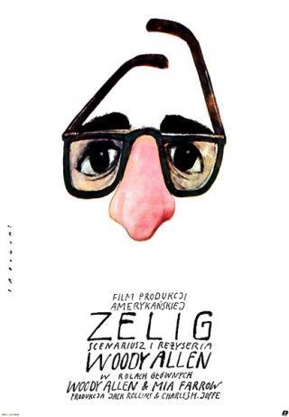Poster to the movie Zelig, dir. by Woody Allen