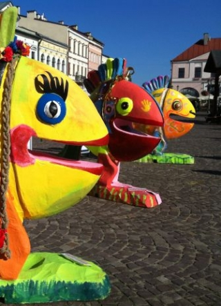 Fish on Rzeszow Market Square